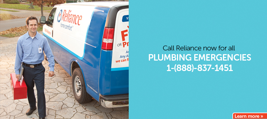 Call Reliance now for all plumbing emergencies