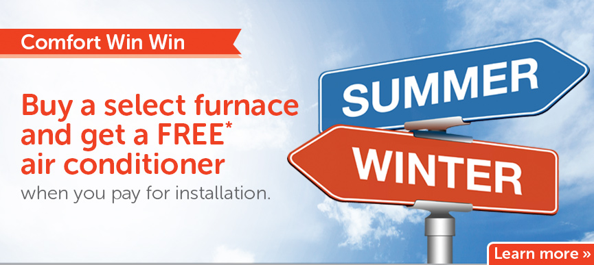 Buy a select furnace and get a free air conditioner